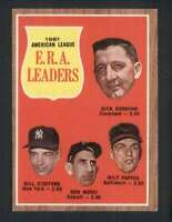 1962 Topps #55 Donovan/Stafford/Mossi/Pappas EXMT/EXMT+ A.L. E.R.A. Leaders 7497