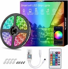 5m Alexa Smart WiFi RGB LED Strip Light Flexible IP65 for Amazon Google Home 12V