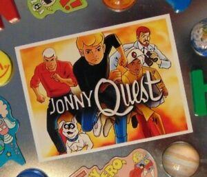 JONNY QUEST Cartoon Large Fridge MAGNET 1960's Sci Fi Adventure Show Johnny