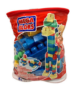 Mega Bloks Big Blocks Building Bag 1 Plus Building Blocks Over 100 Blocks