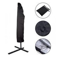 Waterproof Zipper Umbrella Cover Patio Outdoor Garden Cantilever Parasol Protect