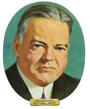 Vtg President Herbert Hoover Die Cut Face Paper Wall Decoration New Old Stock
