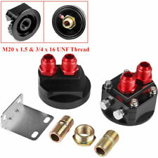 Car Oil Filter Relocation Male Sandwich Fitting Adapter Kit M20 x 1.5 & 3/4 x 16