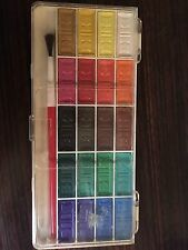 RARE VINTAGE 80'S WATER COLOR SET OF 20 COLORS + BRUSH MADE IN WEST GERMANY