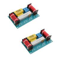 Premium 3 Way Speaker Crossovers 3 Way Hi/Mi/Lo Frequency Dividers HiFi 2Pcs