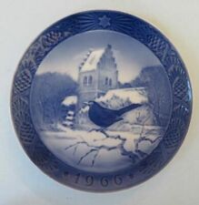Royal Copenhagen Christmas plate, 1966, Blackbird At Christmas Time