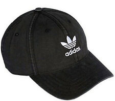 ADIDAS ORIGINALS WASHED CAP HAT BLACK TREFOIL MENS WOMENS STRAP BACK OSFM NEW