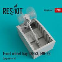 Reskit RSU48-0007 - 1/48 – Front wheel bay CH-53, MH-53 Upgrade Resin Detail