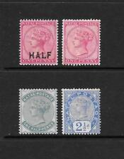 1874 Queen Victoria  SG125 - SG99 - SG97a - SG113 Mint Hinged NATAL