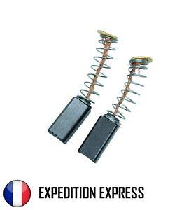 Paire de charbons pour moteur électrique 5 x 5 x 10 mm Universel Balais Brosses