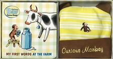 Curious George Curious Baby: My First Words at the Farm Book & T-Shirt Gift Set