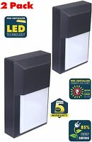 CORAMDEO Residential Outdoor Sconce Wall Pack Light 100W - Black, 2 Pack