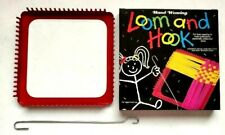 """7"""" Plastic Hand Weaving Loom To Make Potholders Craft Gift Activity with Hook"""