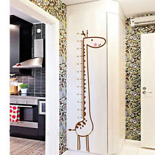 DIY Decor Vinyl Wall Sticker Removable Cute Giraffe Height Chart Measure For Kid
