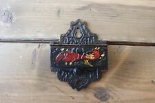 Vintage Cast Iron Match Box Holder