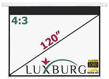 "Luxburg® 120"" 244x183 cm Full HD Electric Motorised Projector Projection Screen"