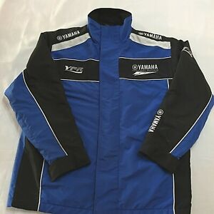 Yamaha Factory Racing Men's Jacket. Waterproof, Lined. Blue & Black Size Small