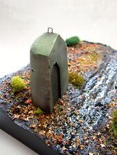 1/35 Scale WW2 German concrete Sentry Pillbox - ceramic diorama accessory