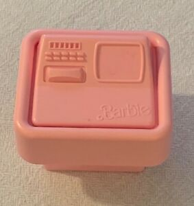 1985 Original Barbie Pink Molded Computer/Bedside Table