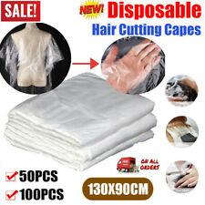 50/100pcs Disposable Salon Barber Gown Hairdressing Cape Hair Cutting Cloak UK