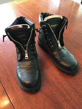 Balmain Paris Taiga Leather Ranger Women's Boots Size 41 (11) EUC Retails $1275