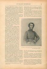 Portrait Major Alexander Gordon Laing Tombouctou Mali Touareg GRAVURE PRINT 1914