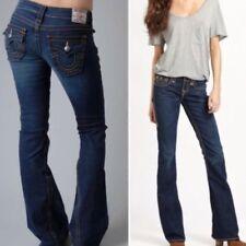 TRUE RELIGION $215 Women's Stretch Flap Pocket Joey Twisted Leg Flare Jeans 26