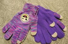 Nwt Girls 2 Glove Set Cold Weather Tech Touch Emoji Hashtag Purple - #4