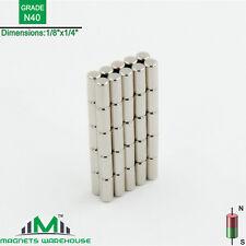 "50-count neodymium N40 Ndfeb cylinder magnets 1/8 x 1/4"" (true N40)"
