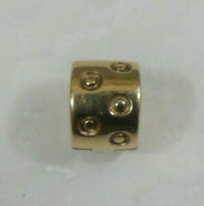 "Retired Pandora 14k 585 ALE Gold ""Seeing Spots"" Clip on Bracelet Charm #750345"