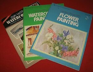 LOT OF 3 WATERCOLOR PAINTING BOOKLETS~TOM LYNNCH,WALTER BROOKS~SC~GD/VGC~LOT #HH