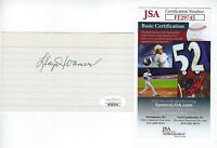 PIRATES Lloyd Waner signed 3x5 index card JSA COA AUTO Autographed Little Poison