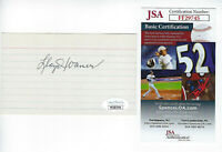 PIRATES Lloyd Waner signed 3x5 index card JSA COA AUTO Autographed Little Poison