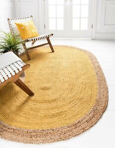Rug 100% Natural jute Hand Braided Modern living Area Home Decor Outdoor Rugs