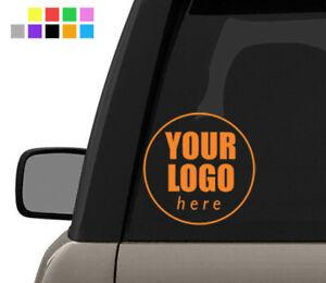 Custom Logo Car / Window Sticker - Warning Bumper Window Vinyl Decal Small 10cm