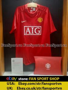 Rafael & Fabio sign Manchester United 2007-2008-2009 COA box shirt jersey red L