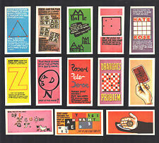 CIGARETTE/TRADE/CARDS. Barratt Sweets.WISE CRACKS 1st Series.(Set of 50).(1970).