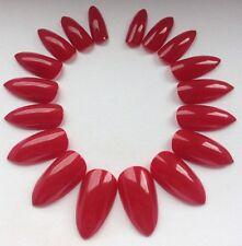 Pintado a Mano Rojo clavos falsos consejos de Cubierta Completa Estilete día de San Valentín