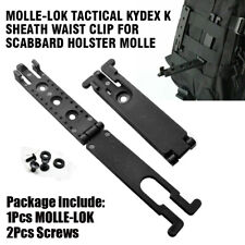 Molle-Lok Kydex K Sheath Clip w/ 2 Screw For Tactical Scabbard Molle Backpack Y