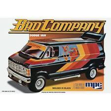 MPC 1/25 1982 Dodge Bad Company Van Plastic Model Kit 824 MPC824 Molded In Black