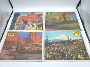 4 Vintage Jaymar Budd Transportation Inlaid Children's 30 pc Puzzles EUC 50s 60s