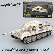 WWII Germany Jagdtiger Porsche snow camouflage tank 1/72 no diecast Easy Model