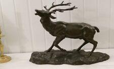 De Fiésole, Bronze Animalier, Cerf Bramant, Sculpture Animalière, Début XX ème
