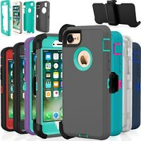 Protective Shockproof Belt Clip Holster Case Cover For Apple iPhone 7 / 8 / Plus