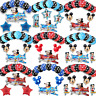 New Disney Mickey Mouse Birthday Foil Latex Balloons Plane Party Decorations Boy