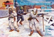 Mars 1/72nd Scale WWII Finnish Army Winter Dress Soldiers Set 72114 NEW