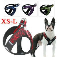 Dog Harness Pet Canvas Vest Dog Chest Strap Leash Pet Collar Training Pulling