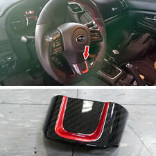 Dry Carbon Fiber + RED For Subaru WRX Impreza CST Interior Steering Wheel Trim