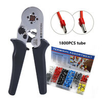 AWG23-7 Ferrule Crimper Pliers Wire Crimping Tool Kit Terminal Connector Sleeves