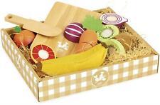 Vilac frutas y verduras de corte para Niños de Madera Juguete BN